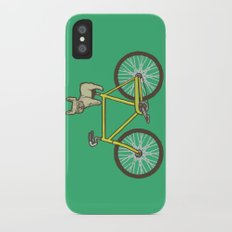 Frenchie on a Fixie Slim Case iPhone X