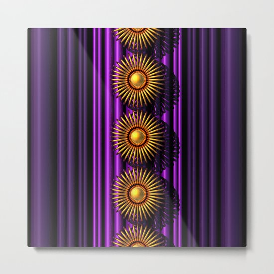Purple/Gold Metal Print