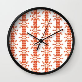 Bamboo forest – red Wall Clock