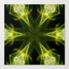 Neon Green Kaleidoscope Canvas Print