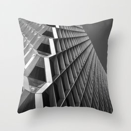 Abstract City Architecture Pittsburgh Black White Throw Pillow