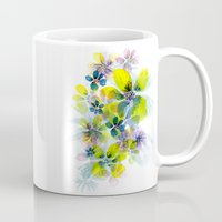 fireworks Mugs featuring Fireworks by La Rosette Illustration