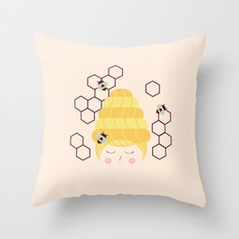 Lady Beehive Throw Pillow