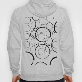 Brushstroke Circles No.2A by Kathy Morton Stanion Hoody