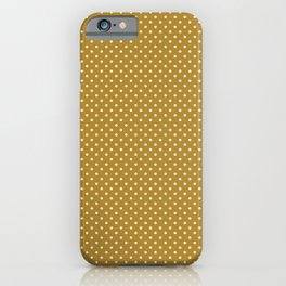 Gold Background White Dots iPhone Case