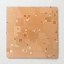 Peach Cobbler Square Pixel Color Accent Metal Print