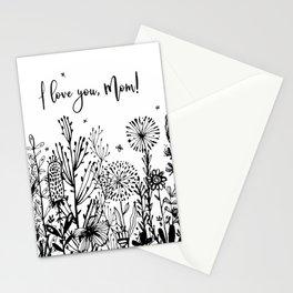 I love you, Mom! Stationery Cards