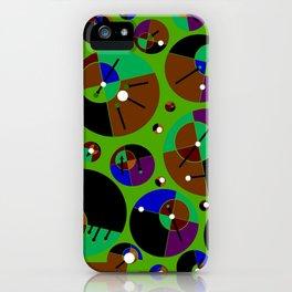Bubble green black iPhone Case