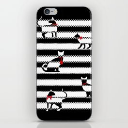 Red Society Cats iPhone Skin