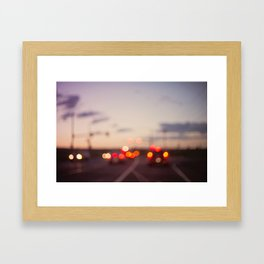 highway at dusk Framed Art Print