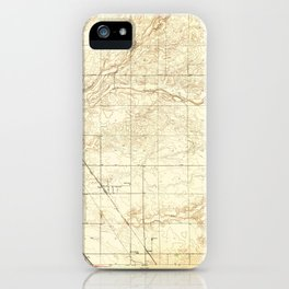 Gregg, CA from 1947 Vintage Map - High Quality iPhone Case