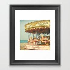 Seaside Carousel Framed Art Print