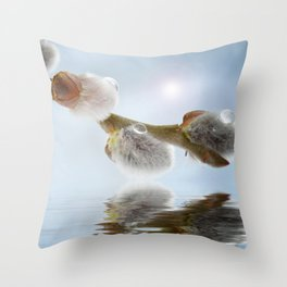 Pussy willow 0117 Throw Pillow