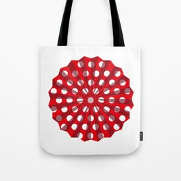 Lantern of white polka dots Tote Bag
