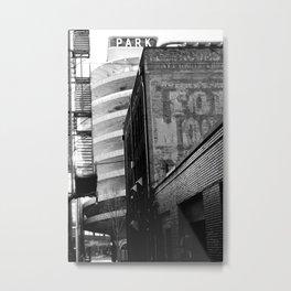 Silence in Dim Alleys Metal Print