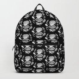 Burger Diagram (Black and White variant) Backpack