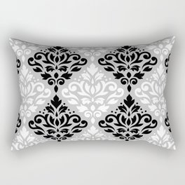 Scroll Damask Pattern BWG Rectangular Pillow