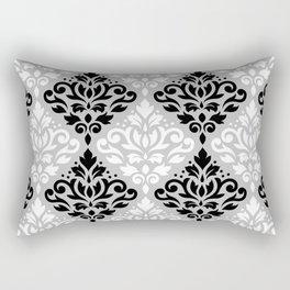 Scroll Damask Pattern BWG Rectangular Pillow