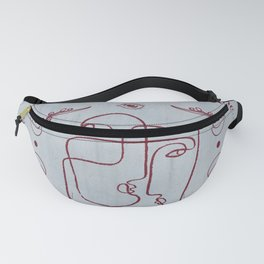 Face + Moon Fanny Pack
