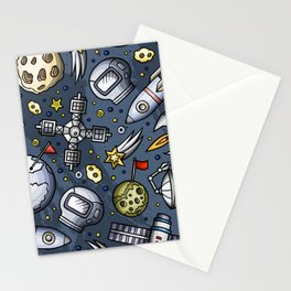 Poster Background | Space Doodle Pattern Stationery Cards