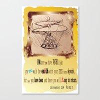 da vinci Canvas Prints featuring Da Vinci Helicopter by Anarchasm