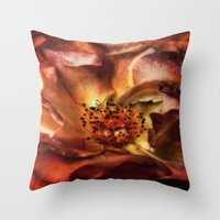 fireworks Throw Pillows featuring fireworks by lucyliu