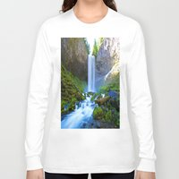 waterfall Long Sleeve T-shirts featuring Waterfall by 2sweet4words Designs