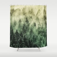 surrealism Shower Curtains featuring Everyday // Fetysh Edit by Tordis Kayma