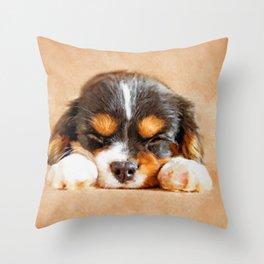 Cavalier King Charles Spaniel Puppy Throw Pillow