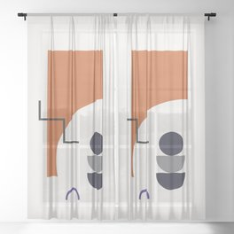 Abstract Shapes - Autumn Sheer Curtain