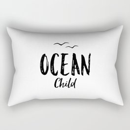 OCEAN CHILD HAND WRITTEN BLACK AND WHITE Rectangular Pillow