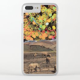 Lollypop Sky Show for the Elephants Clear iPhone Case