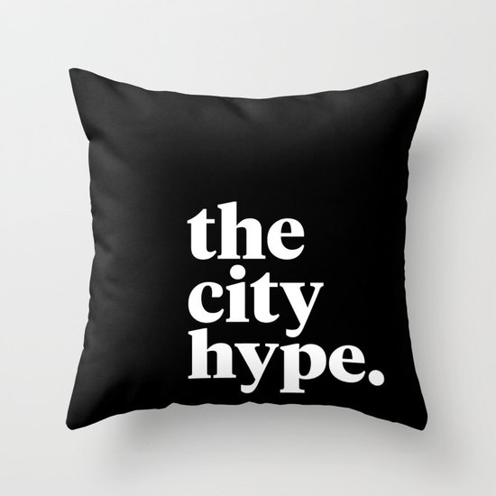 The City Hype Throw Pillow