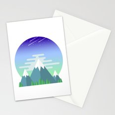 Space Mountains Stationery Cards