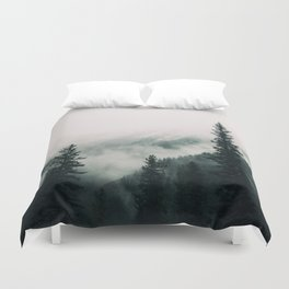 Over the Mountains and trough the Woods -  Forest Nature Photography Duvet Cover