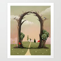 Coutry landscape  Art Print