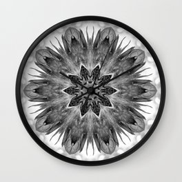 Beautiful Black White Flower Abstract Wall Clock