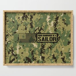 Proud Grandparent of a Sailor Serving Tray