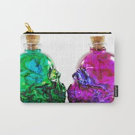 Deadly Nightshade & Arsenic Poison Skull Bottles Carry-All Pouch