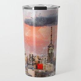 Sao Paulo - WaterColor 003B Travel Mug