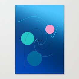 The 3 dots, power game 6 Canvas Print