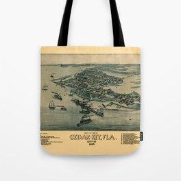 Map of Cedar Key 1884 Tote Bag