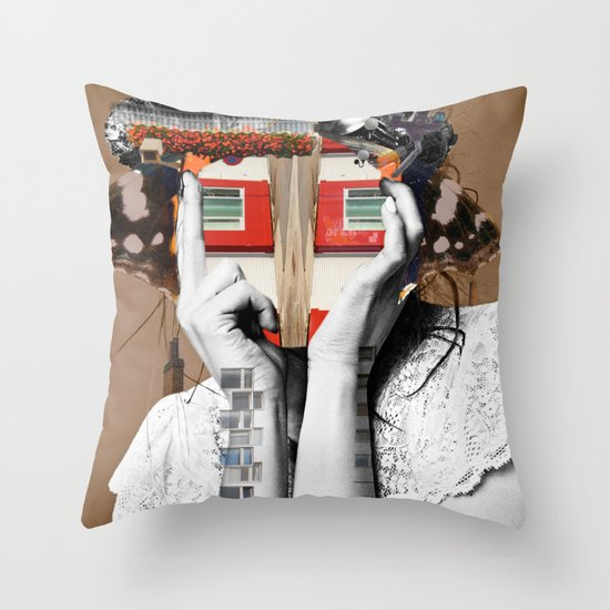 Crazy Woman - Lisa Lara Bella Throw Pillow