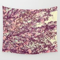 sofa Wall Tapestries featuring floral sofa by vibeyantlers