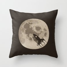 Around the Moon Throw Pillow