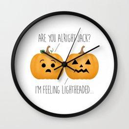 Lightheaded Jack-O-Lantern Wall Clock