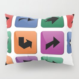 Arrow sign collection Pillow Sham