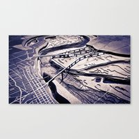 memphis Canvas Prints featuring Memphis by James Hargreaves