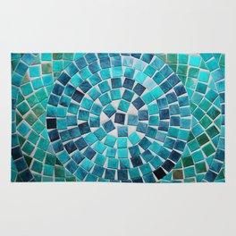 circular - photograph of mosaic tiles Rug