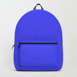Bright Fluorescent Neon Blue Backpack